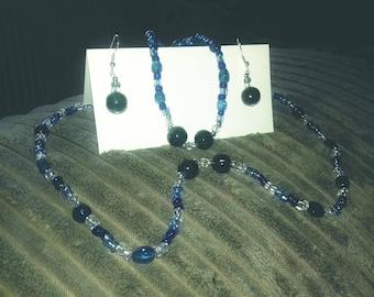 Necklace earing and bracelet set