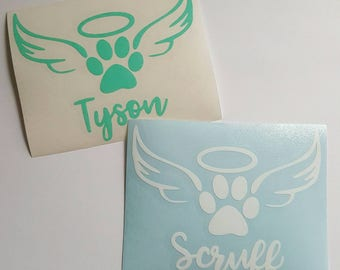 Dog Memorial Decal, Pet Memorial, In Memory of Decal, Dog Decal, Personalized Dog Decal, Pet Lover Decal, Custom Dog Decal, Pet Lover Gift