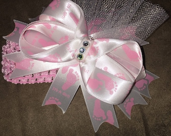 Newborn It's a girl headband
