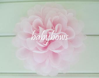 2 Light Pink Big Flower Baby Girl Flower Hair Clips 1 Pair