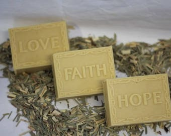 Goats milk soaps - Love, Faith, Hope