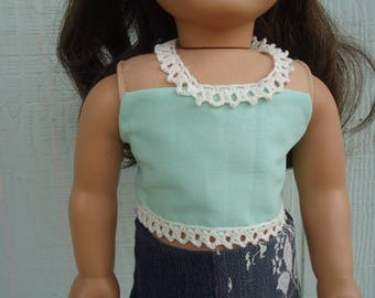 Blue top for 18 inch dolls