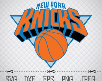 New York Knicks Logo SVG DXF EPS Png Digital Cut Vector Files for Silhouette Studio Cricut Design Space Cameo & Cricut Explore Vinyl Decal