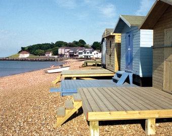 Beach Huts, Tankerton, Fine Art Blank Photographic Greetings Card & Print