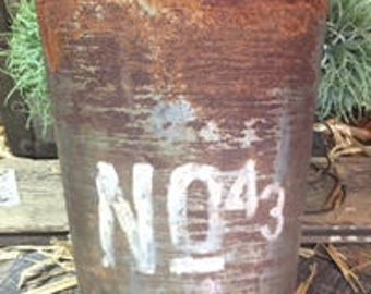 Tall Rusty Numbered Sap Bucket