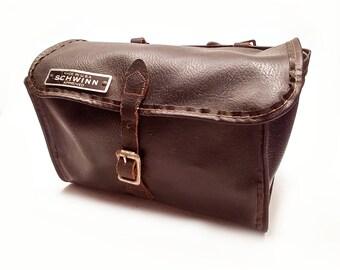 Vintage Schwinn Approved Leather Seat Bag