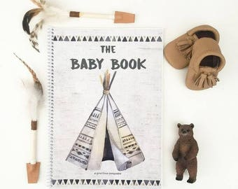 Boho Tribal Baby Book journal keepsake wilderness