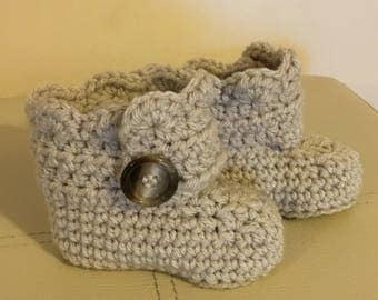 Hand Made Crochet Baby Boots