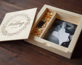 "Handmade wood photo box 4""x6"" (10x15cm)"