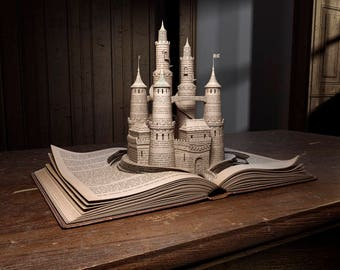 Print Series The Pop Up Book Collection - Castle - Imaginative Images Print To Size
