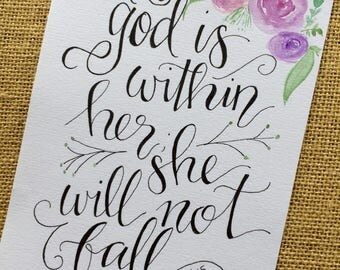 God is Within Her; She Will Not Fall