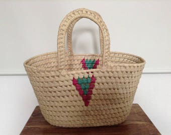 Hand weaved storage basket from Mozambique