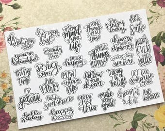 Do What you LOVE - Hand Lettering Planner Sticker / Quotes / Happy Planner Stickers / Erin Condred / Mini Happy Planner Stickers