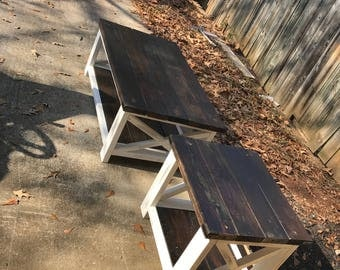 Distressed X Coffee Table