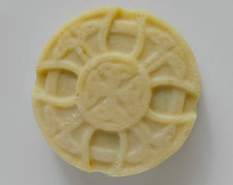 Celtic Cross Lemon Green Tea Soap - All Natural Artisan Handmade Vegan Gift for Him or Her Hand Crafted Soap
