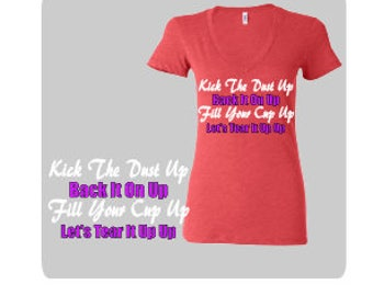 Kick The Dust Up Tri Blend V Neck Top