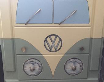Hand painted Volkswagen Bus Dresser