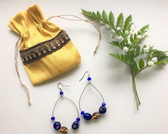 SV's handmade earrings with beads