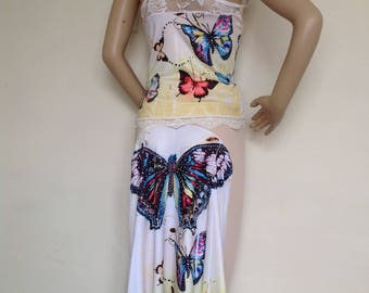 Argentine Tango Butterfly skirt and top set medium size