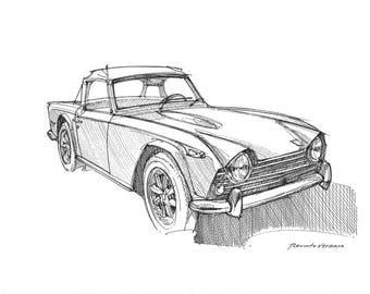 Triumph TR5 - Original sketch