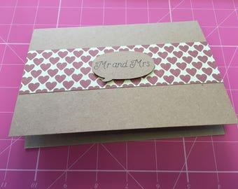 Hearts design wedding card