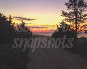 Sunrise Silhouettes Cottage Decor Instant Download Beach Photography / Ocean Photography / Landscape Photography