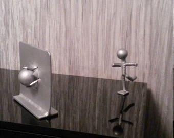 iron man, sculpture, metal art, recycled art, salvaged art