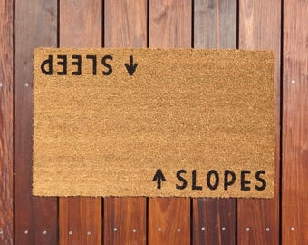 Slopes/Sleep Door Mat (doormat) - ski lodge décor