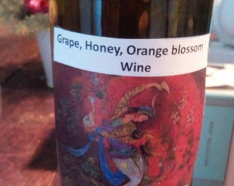 Home made mead and grape wine with orange blossoms