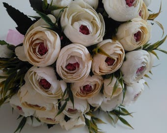 Wedding Bouquet, Bridal Bouquet, Bridesmaid Bouquet, White Roses Bouquet, Wedding Flowers, White Bouquet, Wedding Package, Flower Bouquet