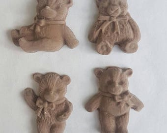 8 edible small teddy bear  picnic cake toppers