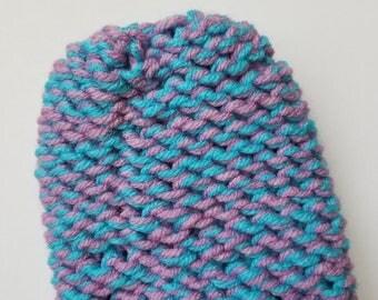Pink & Blue Mitten Washcloth