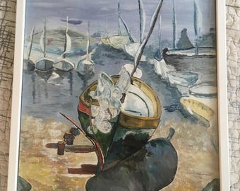 Guosha painting Dreaming about the boats