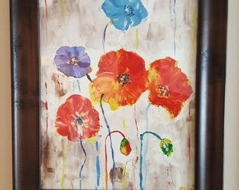 Bunch of Flowers (Original, Hand Painted)