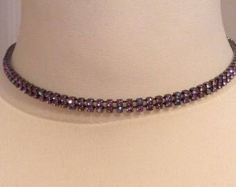 Vintage purple choker style necklace