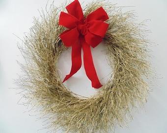 Holiday Gold Quail Brush Wreath | Quail Brush Wreath | Gold Wreath | Home Decor