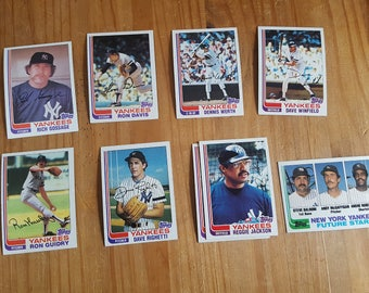 1982 Yankees Baseball Cards