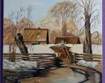 "oil. painting canvas "" весна"" landscape painting живопись, пейзаж маслом Art&Cjllectibles . scenic painting .nature painting"