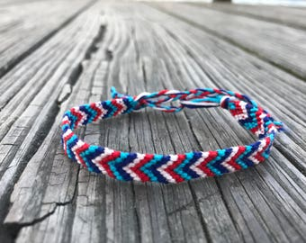 Red white and blue chevron friendship bracelet