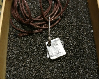 "Stainless steel pendant ""us"""