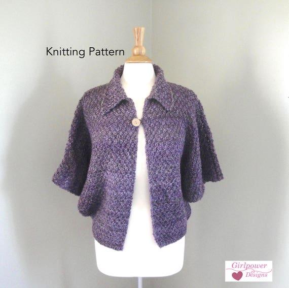Xl Sweater Knitting Pattern : Shonie shrug knitting pattern dolman sleeve cardigan