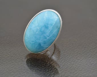 Ring... Queen.. .with Larimar gem... Jewel by Massimo Di Basilio.