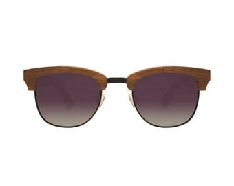"Wooden sunglasses | Clubmaster sunglasses | ""SAO POLO"" wooden model 