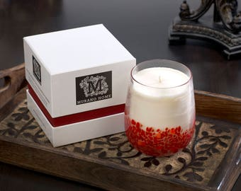 Murano Glass Candle - Grapefruit & Bergamot