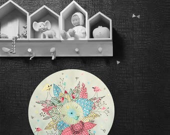 Table child/baby room, wall decoration, nature