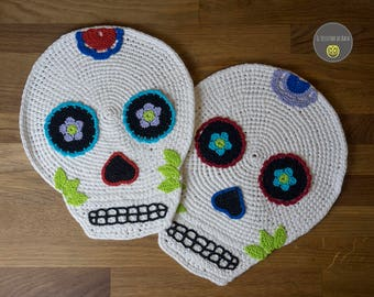 Mexican skull placemats