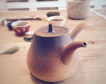 Chinesische Teekanne Braun, brown ceramic Chinese teapot, Teezubehör, tea accessory, Braune Chinesische Keramik Teekanne
