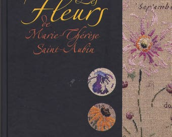Book cross stitch flowers of Marie-Thérèse Saint - Aubin