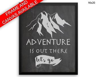 Adventure Is Out There Printed  Poster Adventure Is Out There Framed Adventure Is Out There Home Art Adventure Is Out There Home Print