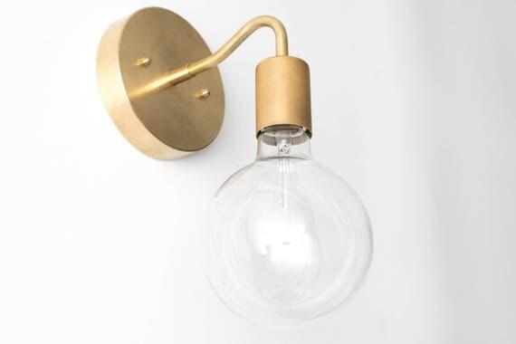 Brass Wall Sconce Globe Sconce Minimal Sconce Light